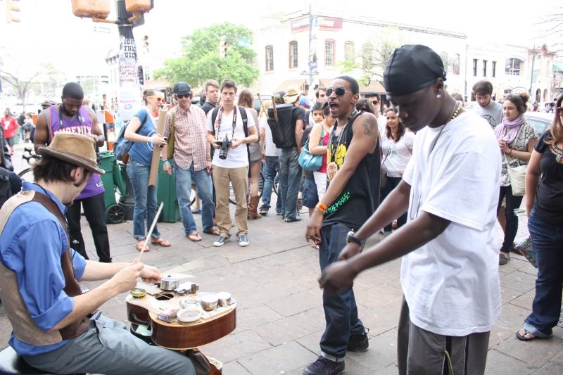 Street musicians on 6th St.